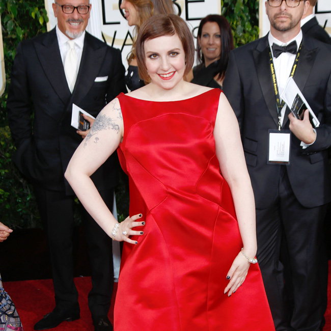 US actress Lena Dunham arrives for the 72nd Annual Golden Globe Awards at the Beverly Hilton Hotel, in Beverly Hills, California, USA, 11 January 2015. Photo: Hubert Boesl/dpa