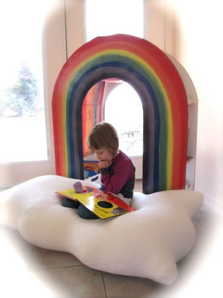 This Dad's DIY Rainbow Bookshelf Inspires Kids To Read
