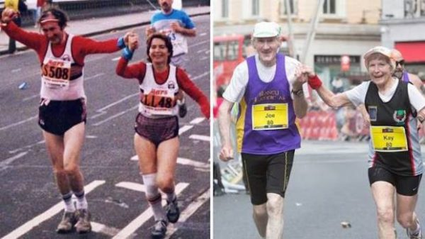 For Their 57th Anniversary This 80-Year-Old Couple Ran A Marathon Together