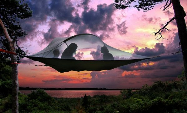 Floating Tents Made By Treehouse Architect Can Be Assembled In Backyards