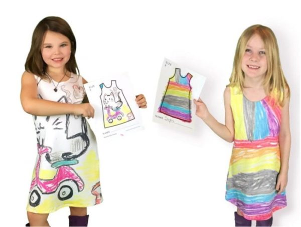 Daughter's Doodle is Transformed Into a Real Dress
